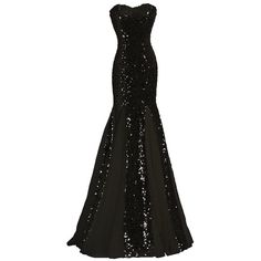 Generic Women's Strapless Mermaid Sequin Evening Gowns Off Shoulder... ($60) ❤ liked on Polyvore featuring dresses, off the shoulder dress, off the shoulder sequin dress, vintage white dress, champagne dress and strapless formal dresses