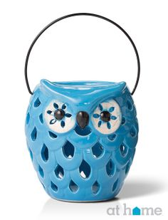 One of our top #lantern picks this season of a blue owl! #athomefinds