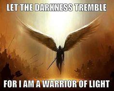 Warrior of Light I Am A Warrior, Switch Words, Prophetic Art, Spiritual Warfare, Card Reading, Tarot Cards, Spirituality, Faith, Let It Be