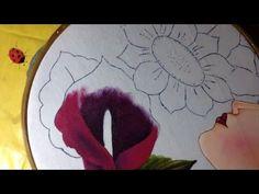 Pintura en tela rostro con flores # 5 con cony - YouTube