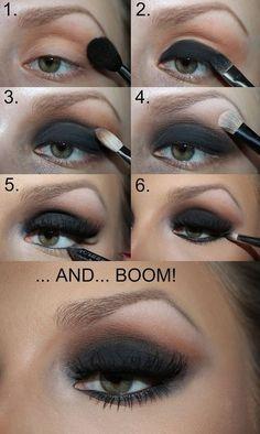 black smokey eye makeup tutorial * black smokey eye make-up tutorial black smokey eye makeup tutorial * Prom black makeup; Makeup Hacks, Makeup Inspo, Beauty Makeup, Makeup Ideas, Makeup Tips, Makeup Tutorials, Beauty Tips, Hair Beauty, Blonde Beauty