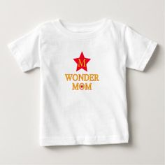 MOM Mother's Day - Wonder Mom Baby T-Shirt - New Year's Eve happy new year designs party celebration Saint Sylvester's Day