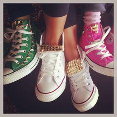 Studded Converse # DIY