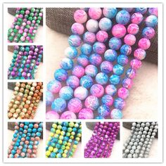 Wholesale Glass Beads Round Loose Spacer Beads Pattern For Jewelry Making DIY Bracelet Necklace (Discount: 21 % ) Crystal Uses, Diy Necklace Bracelet, Cheap Beads, Jewelry Making Beads, Beaded Jewellery, Jewellery Making, Diy Accessories, Beading Patterns, Glass Beads