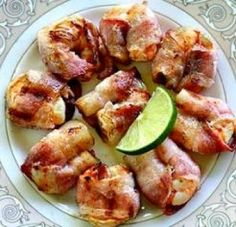 Bacon-Wrapped Shrimp with Rosemary and Stilton (Cajun recipe from Louisanna)