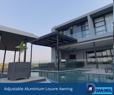 Adding an awning to your pool area adds value to your lifestyle