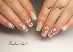 Одноклассники Pretty Nail Designs, Colorful Nail Designs, Nail Art Designs, Spring Nails, Summer Nails, Lily Nails, Drip Nails, Mobile Nails, One Stroke Nails