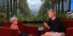 """Adorable 4-Year-Old Kai Langer Sings Bruno Mars' """"When I Was Your Man"""" on Ellen (VIDEO)"""