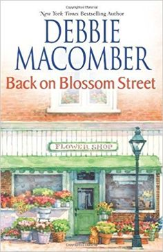 Back on Blossom Street by Debbie Macomber.  The fourth of the Blossom Street series, a new flower shop has opened, and two of the workers have decided to join Lydia Goetz's knitting class.  Alix Townsend is also hoping to knit a shawl for her wedding while dealing with pre-wedding jitters.  Recommended by Alyssa.