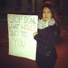 Stop doing what Hitler did to you #Gaza
