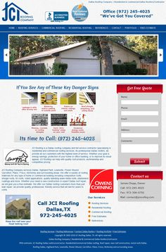 JCI Roofing Company Custom CMS website Designed and Developed for a roofing company.