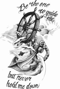 Rudder christiano anchor tattoos, wheel tattoo и anchor tatt Trendy Tattoos, Love Tattoos, Beautiful Tattoos, Body Art Tattoos, New Tattoos, Tattoo Drawings, Tattoos For Guys, Tatoos, Sketch Tattoo