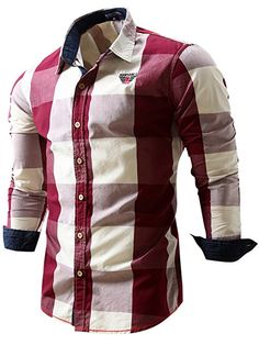3819088a11a Neleus Men s Long Sleeve Button Down Shirts at Amazon Men s Clothing store   Mens Sleeve