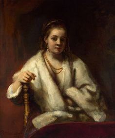 Rembrandt 'Portrait of Hendrickje Stofells' c.1654-56 Oil on canvas