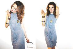 Heather blue dress with tie front  #fashion #holiday2014 #voyageclothing #style #shop #onlineshopping #eshop #boutique #wardrobestylist #stylist #streetstyle #fashionblogger #blogger #photography #fashionphotography #lookbook