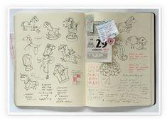 my moleskine by Anna Rusakova, via Behance Sketch Journal, Artist Journal, Art Journal Pages, Art Journals, Travel Journals, Sketch Painting, Watercolor Sketch, Sketchbook Inspiration, Journal Inspiration