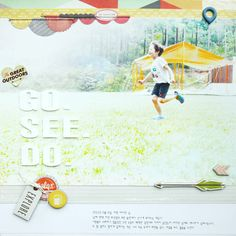 #papercraft #scrapbook #layout. Go. See. Do. by JINA-B at @studio_calico