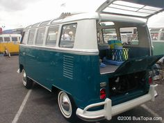 Volkswagen Bus painted stock Cumulus White L680, over Sea Blue L360