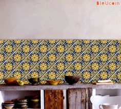 Tile/wall/stair decal : Mexican Talavera style44 by Bleucoin