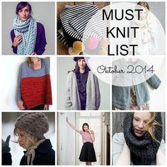 """In einem Kommentar hörte ich von einer """"Must Knit List"""" also einer """"Muss ich stricken Liste"""". Ich finde fas so eine coole Idee, dass ich beschlossen hab ..."""