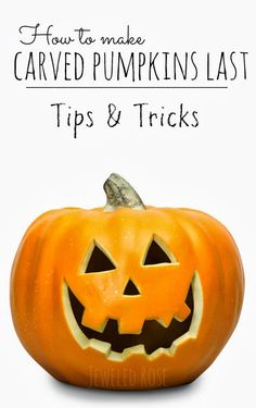 How to make Carved Pumpkins Last Longer ~ Tips & Tricks