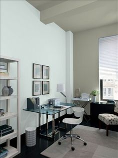 mesmerizing modern office wall color ideas   55 Best Home Office Color Samples! images in 2019 ...