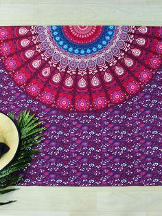 ROMWE - ROMWE Multicolor Tribal Print Beach Blanket - AdoreWe.com
