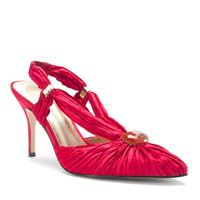 Ruby red satin.