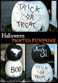 Fun painted pumpkins for Halloween