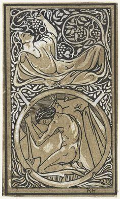 Richard Roland Holst   Ontwerp voor vignet voor catalogus van uitgeverij H.J. Poutsma, Richard Roland Holst, 1878 - 1938  