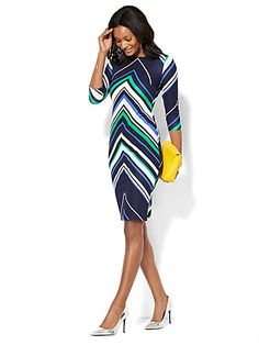 Shop Chevron Stripe Sheath Dress . Find your perfect size online at the best price at New York & Company.