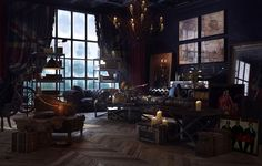 Steampunk-Interior-Design-Style-And-Decorating-Ideas-9 Steampunk Interior Design Style And Decorating Ideas Interior Exterior, Interior Rendering, Steampunk Home Decor, Steampunk Bathroom, Steampunk Interior, Steampunk Furniture, Steampunk House, Steampunk Design, Pop Design