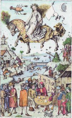 Luna und ihre Kinder, Mittelalterliches Hausbuch von Schloss Wolfegg / Master of the House-Book c. 1480, Middle Rhine