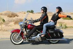 Dubai - Prestige Motorcycle Tours & Rentals- Day Tours: Mitch and Roxanne riding