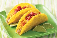 Breakfast Fiesta Crunchy Tacos Recipe | Hungry Girl - 8 smart points