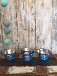Set van 4 unieke handgemaakte schaaltjes uit India
