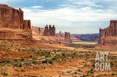 Landscape - Arches National Park - Utah - United States Photographic Print by Philippe Hugonnard at Art.com