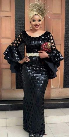 Hello here are some exotic asoebi designs for the ladies. These asoebi styles will light up your fashion life. African Fashion Ankara, African Inspired Fashion, Latest African Fashion Dresses, African Print Fashion, Long African Dresses, African Lace Styles, Lace Dress Styles, African Traditional Dresses, African Attire