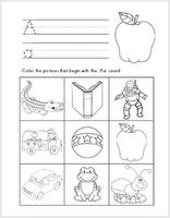 Ricca's Kindergarten: Literacy Worksheets {FREEBIES} (Alphabet Sounds A-Z, Word Families, Missing Initial Sounds, and Sound Sorts) Literacy Worksheets, Kindergarten Literacy, Literacy Activities, Alphabet Worksheets, Math Games, Literacy Centers, Teaching Reading, Fun Learning, Teaching Ideas