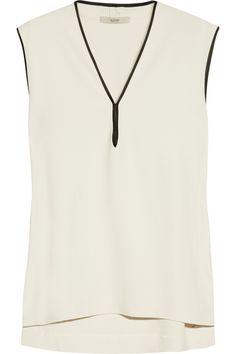 Etro|Silk-trimmed stretch-crepe top|NET-A-PORTER.COM