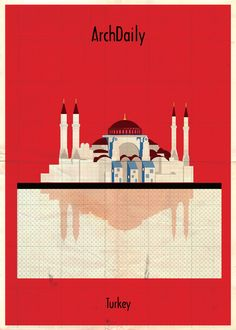 Federico Babina's Latest Archi-Illustrations: Classic National Architecture (With A Twist),Courtesy of Federico Babina