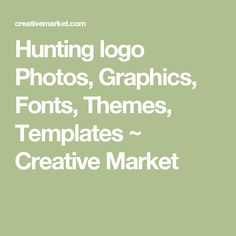 Discover more than hunting logo creative templates and custom-designed graphics to use in your next design project. These uniquely-crafted products are individually designed by independent creators to help bring your next design ideas to life.