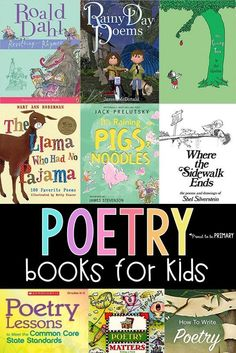 A list of 16 poetry books for kids, along with teacher resource books and information about how to teach poetry in the classroom and build a love of poetry in children. Teachers use these poetry books to enhance your poetry unit during Poetry month. #booksforkids #poetrybooks #poetryforkids