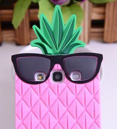 BYG Blue 3D lovely Fruit Ananas Style Soft Case Protective Cover For Samsung Galaxy S3 I9300 + Gift 1pcs Phone Radiation Protection Sticker Galaxies, Sunglasses Case, Samsung, Fruit, Gifts, Bun Hair, Presents, Gifs, Favors