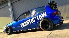 #Honda Civic hatchback #Slammed #Stance