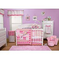Dr. Seuss Pink Oh! the Places Youll Go! Crib Beddin...