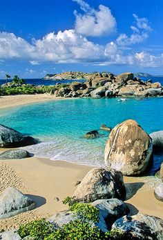 Brides.com: . If you're all about the island-hopping: British Virgin Islands. Steady tradewinds and stunning turquoise seas make this chain of 60 palm-covered isles perfect for chartering a skippered catamaran and spending a week exploring. It's also a sweet place to go bar-hopping by boat: Along with the Soggy Dollar on Jost Van Dyke, try Willy T off Norman Island. Rather spend your nights on dry land? Bunk at the Bitter End Yacht Club on Virgin Gorda, where sailing lessons and use of the…