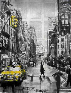 "Saatchi Art Artist Loui Jover; Drawing, ""brooklyn cab ((SOLD))"" #art"