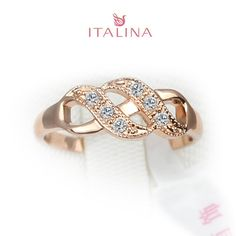 Italina Brand 2016 Wedding Jewelry 18K Rose Gold Plated Wholesale Vintage Jewellery femininos anel Women Finger Rings