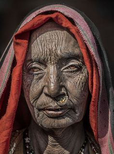 The face of poverty: Intimate portraits of Indian paupers reveal toll of life in villages